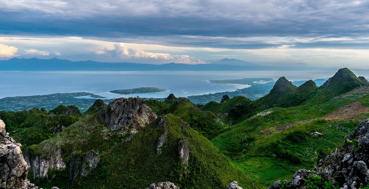 View at the top of Osmeña Peak, overlooking Tañon Strait
